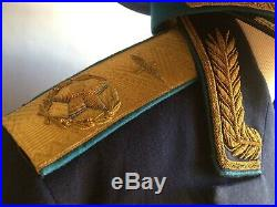 Very Rare Soviet Union USSR Size XL Air Force Main Marshal Blue Uniform Kit