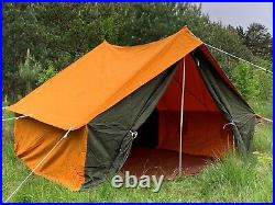 Vintage 3-Colors Canvas Camping Tent House USSR 4 Person 1991 NWT New RARE