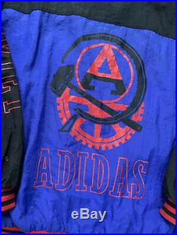 Vintage 80s Adidas USSR Soviet Union hammer Sickle Jacket Trefoil Rare XL