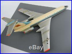 Vintage BIG model airplane plane TU 134 AEROFLOT metal Soviet Union Russia USSR
