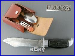 Vintage Hunting KNIFE H9194 pocket Fork Spoon made in Soviet Union Russia USSR