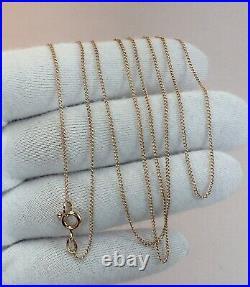 Vintage Original Soviet Rose Gold Chain 14 KT 583, Russian Gold Chain Silk