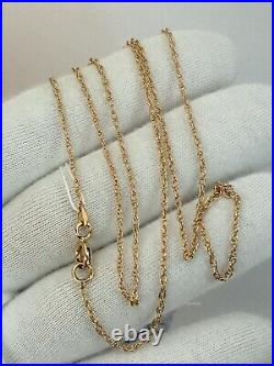 Vintage Original Soviet Rose Gold Chain 14 KT 583, Russian Gold Necklace Chain