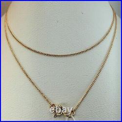 Vintage Original Soviet Rose Gold Chain 14 KT 585, Russian Gold Chain Silk