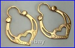 Vintage Original Soviet Rose Gold Earrings Tsyganskiy/ Gypsy 583 14KT USSR