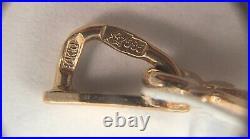 Vintage Original Soviet Rose Gold Pendant 585 14K USSR, Solid Gold Pendant 14K