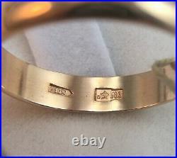 Vintage Original Soviet Rose Gold Ring 583 14K USSR, Solid Gold Ring 14K