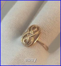 Vintage Original Soviet Russian Rose Gold Ring 585 14K USSR, Solid Gold Ring 585