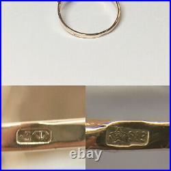 Vintage Original Soviet Russian Rose Gold Ring Cameo 583 14K USSR, Gold Ring