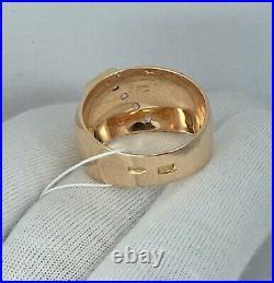 Vintage Original Soviet Russian Rose Gold Ring with Amethyst 583 14K USSR
