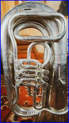Vintage Original USSR Soviet Brass Musical Wind Instrument Tuba