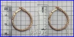 Vintage Soviet Amazing Rose Gold Earrings Snake 583 14K USSR, Solid Gold 583