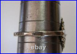 Vintage Soviet Russian Sterling Silver 875 Ring Ruby, Women's Jewelry Size 6.5