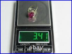 Vintage Soviet Russian Sterling Silver 875 Ring Tourmaline, Women's Jewelry 5.25