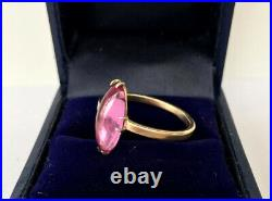 Vintage Soviet Russian Sterling Silver 875 Ring, Women's Jewelry Size 7.75