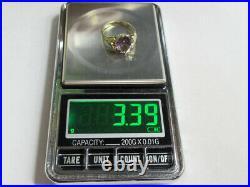 Vintage Soviet Sterling Silver 875 Ring Alexandrite USSR, Women's Jewelry Size 8