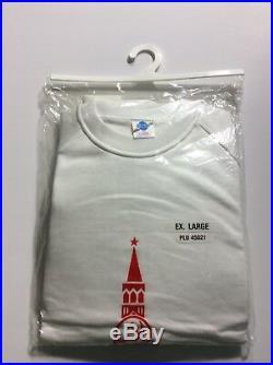 Vintage Soviet Union Russia USSR Perestroika Moscow Political Sweatshirt New XL