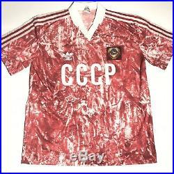 Vintage Soviet Union USSR 1988 Futbol/Soccer Adidas Jersey Size L