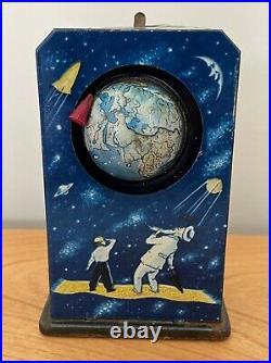Vintage Sputnik Satellite Wind-up Mechanical Toy Soviet Union USSR Space Race