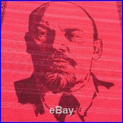 Vintage USSR Carpet Lenin Portrait Propaganda Soviet Collectible Rare 105x75 NOS