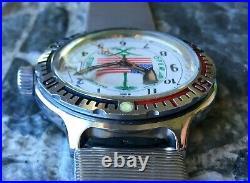 Vintage WOSTOK Desert Shield Amphibian USSR Vostok wrist watch Amfibia Diver