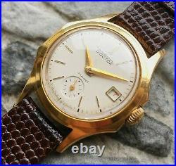 Vintage WOSTOK USSR 60s cal. 2605 Vostok wrist watch 17 Jewels GOLD PLATED AU