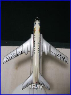 Vintage model Airplane plane TU 104 AEROFLOT metal Soviet Union Russia USSR