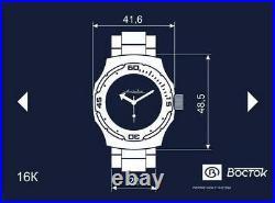 Vostok Amphibian 160272 / 2416 Mechanical Military Russian Diver Watch Blue New