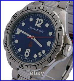Vostok Komandirskie 480514 / 2416 K34 Russian Military Mechanic Watch Auto Blue