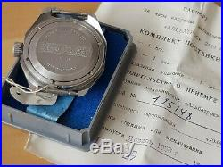 Vostok Military Watch Soviet Union Amphibian Black Dial NOS CCCP