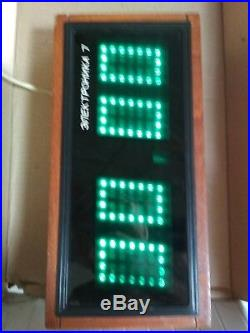 Wall Clock Digital Plant Electronica Minsk Vintage USSR