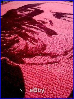Wall Gobelin Painting Rug Carpet Textile Lenin Communism Vintage Soviet USSR