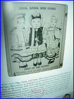 Wonderful all orig. Lbd. Vintage Russian cloth Soviet Union stockinette 10 doll